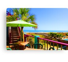Beach View by Jan Marvin Canvas Print