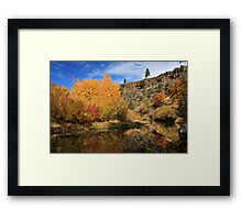 Autumn Reflections In The Susan River Canyon Framed Print