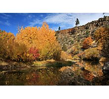 Autumn Reflections In The Susan River Canyon Photographic Print