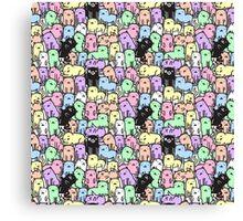 Rainbow Kitties Canvas Print