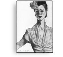 1940's Model Canvas Print