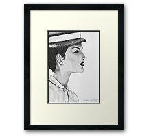 1950's Female: In Profile Framed Print
