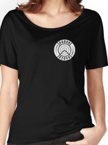 RADAR RADIO FRONT CORNER / BLACK - GRIME Women's Relaxed Fit T-Shirt
