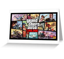 Grand Theft Auto Online - ArtWork Squares Greeting Card