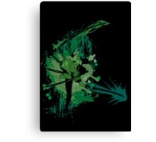 Splatter Swordsman Canvas Print