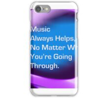Music helps iPhone Case/Skin