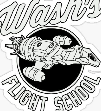 Firefly Wash's Flight School Sticker