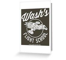 Firefly Wash's Flight School Greeting Card