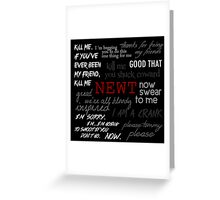 Memorial to Newt Greeting Card
