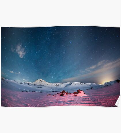Starry Icelandic Night Sky  Poster
