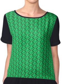 Dragon Scales (Green) Chiffon Top