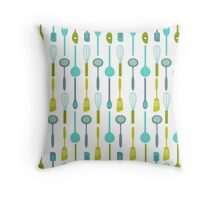 AFE Kitchen Utensils Pattern Throw Pillow