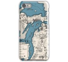 Vintage 1926 Michigan state map - Christmas gift idea iPhone Case/Skin