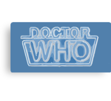 Classic Doctor Who Frozen Logo Canvas Print