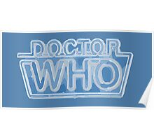 Classic Doctor Who Frozen Logo Poster