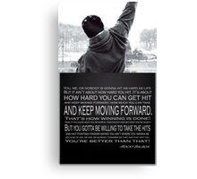 Rocky Balboa Poster Canvas Print