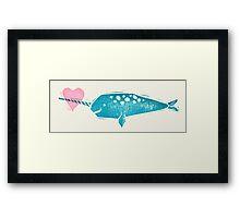 Narwhal Love Framed Print
