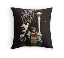 Vintage Rider Throw Pillow