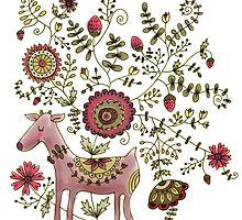 Deer of flowers by kimfleming