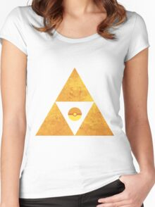 Triforce nintendo Women's Fitted Scoop T-Shirt