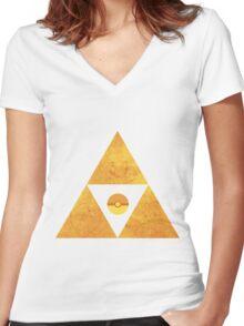 Triforce nintendo Women's Fitted V-Neck T-Shirt