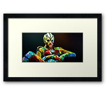 Jaylah is a bright and colourful lady Framed Print