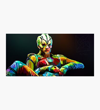 Jaylah is a bright and colourful lady Photographic Print