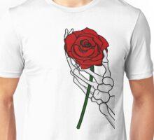 Rose with Skeleton Hand Unisex T-Shirt