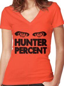 Hunter Percent (Light Version) Women's Fitted V-Neck T-Shirt