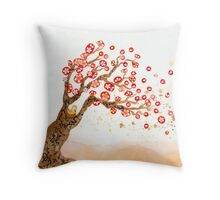 For Japan Tree Throw Pillow