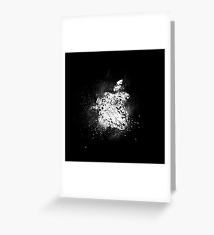 apple logo shattered Greeting Card