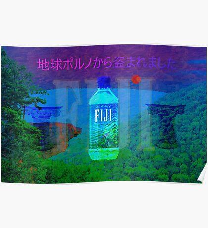 Fiji Water Vaporwave Poster