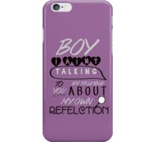 Reflection Typography iPhone Case/Skin