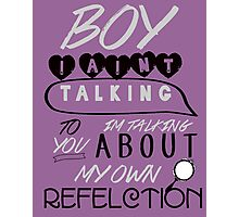 Reflection Typography Photographic Print