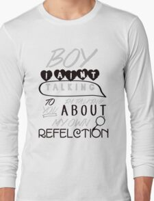 Reflection Typography Long Sleeve T-Shirt