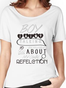 Reflection Typography Women's Relaxed Fit T-Shirt