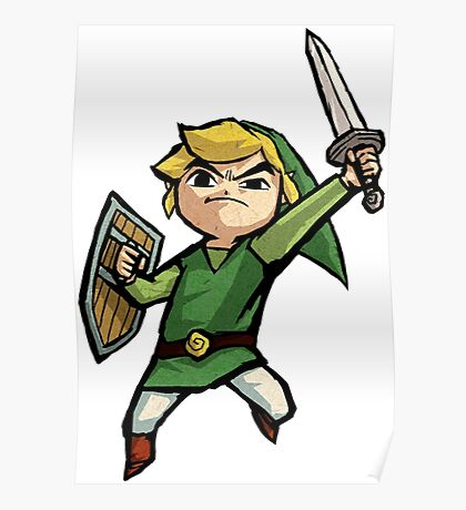 Link Wind Waker Poster