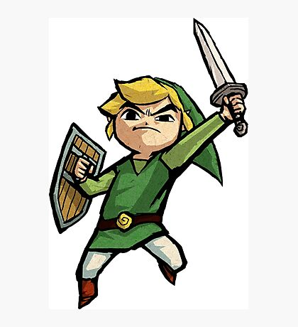Link Wind Waker Photographic Print