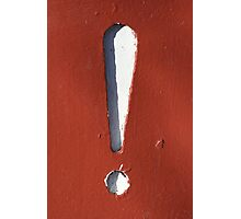 Exclamation Point Photographic Print
