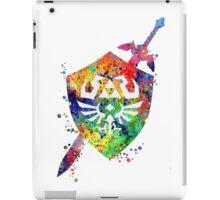Hylian shield and sword watercolor  iPad Case/Skin