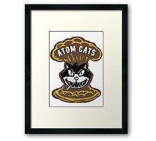 Atom Cats Patch Framed Print