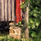 At The Corner Of The Barn by Lois  Bryan