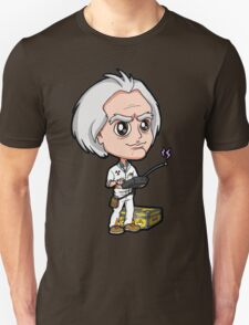 BTTF - Back to the Future 1985 Dr. Emmett Brown Doc Christopher Lloyd Chibi Unisex T-Shirt