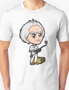 BTTF - Back to the Future 1985 Dr. Emmett Brown Doc Christopher Lloyd Chibi T-Shirt
