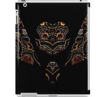 Rainbow Butterfly on black iPad Case/Skin