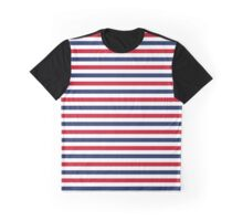 Navy Stripes Graphic T-Shirt
