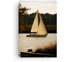 Sailboat ~ Heading Home Under Full Sail  Canvas Print