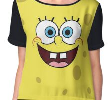 Spongebob Print Chiffon Top