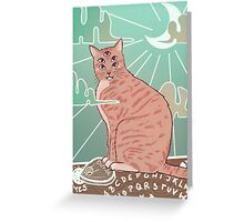 Ouija Cat Greeting Card