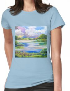 Approaching storm Maroon Dam  Womens Fitted T-Shirt